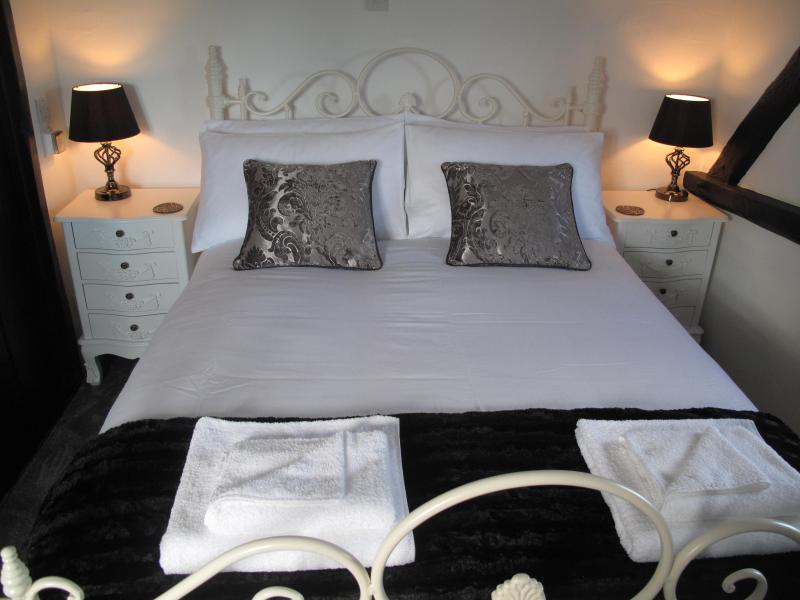 Plough has a double bed fitted with a mattress topper and 100% cotton sheets for your comfort