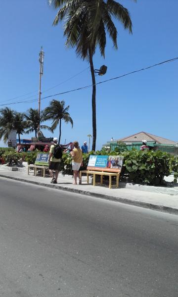 Nearby Junkanoo beach. It is within five minutes walking distance!
