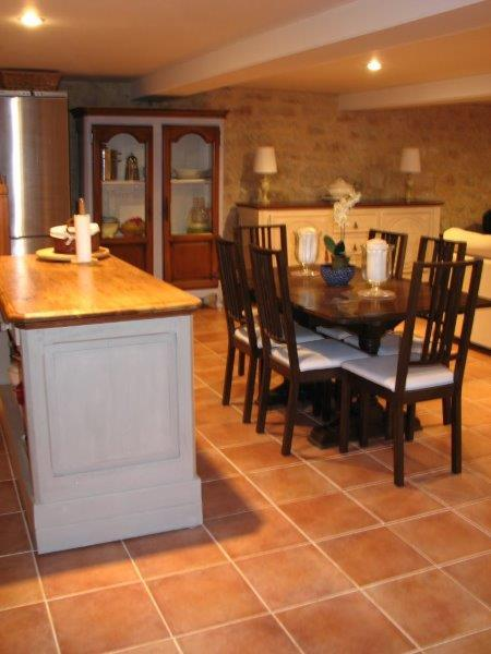 The Dining Area is right next to the Kitchen and seats 8 comfortably