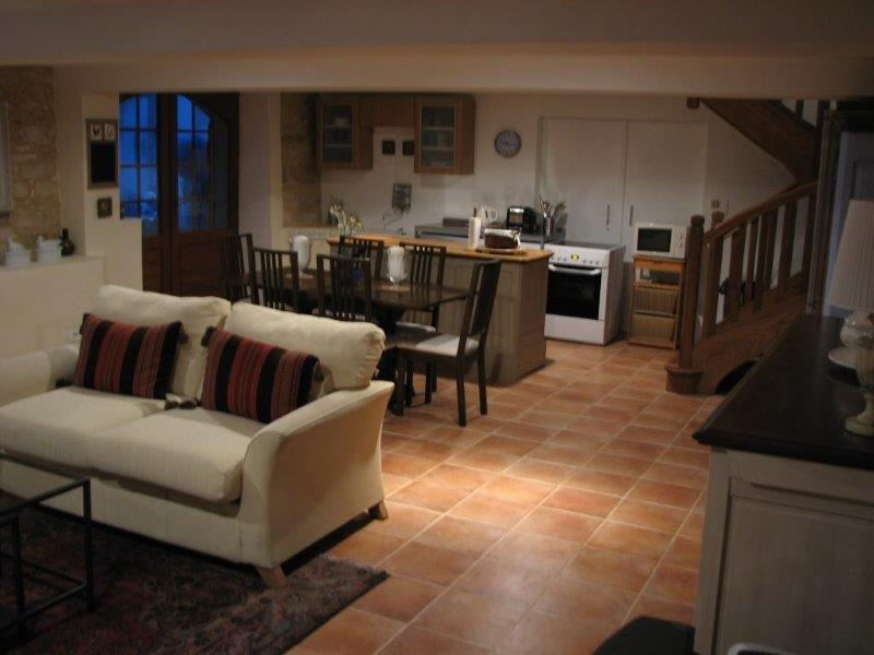 Another view of the Ground Floor Showing from the Living Area through to the Kitchen