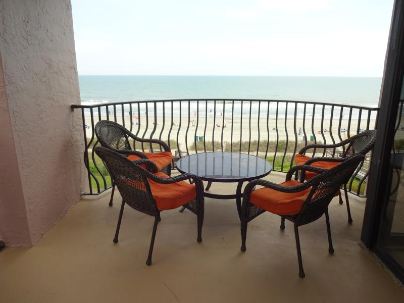 Our very large Ocean front balcony.