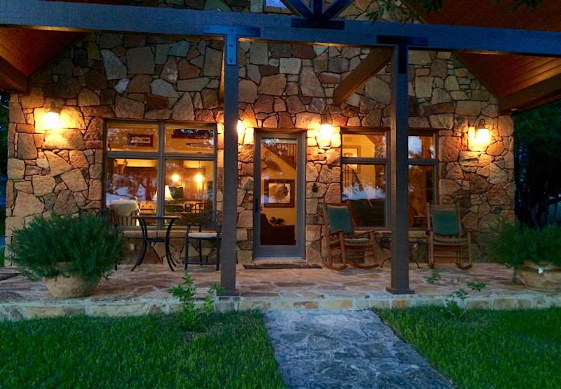 Interior and exterior, the Storybook Cottage is a private, quiet and peaceful place to get away