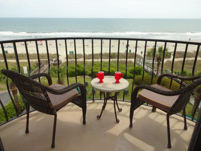 Another Ocean front balcony. A great spot to sit and have a cup of coffee.