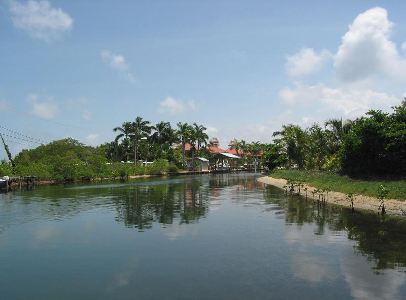 LOOKING DOWN CANAL FROM FRONT YARD