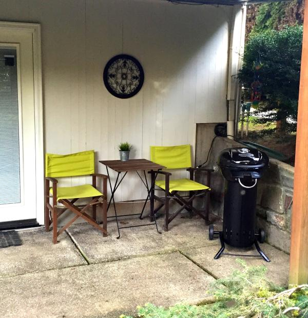 Your own private patio & electric grill!