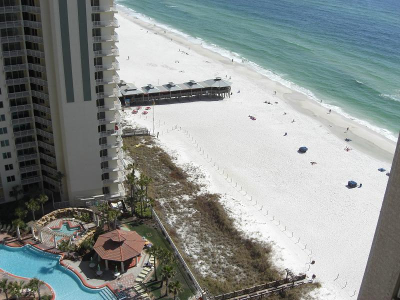 Beach view from the balcony