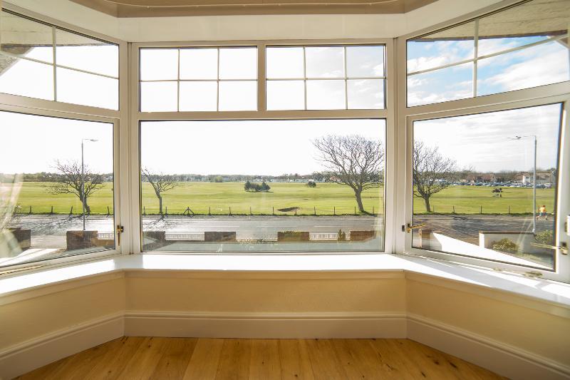 Lounge window and Troon Links