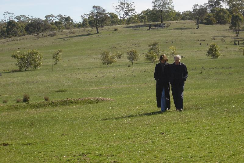 Winter Walks are fantastic in the Goldfields.  This shot from the property...