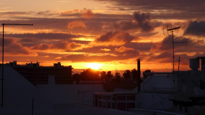 Amazing sunsets from the roof terrace