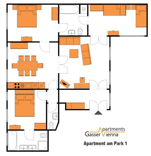 Vienna Park Apartments: Apartment Am Park 1