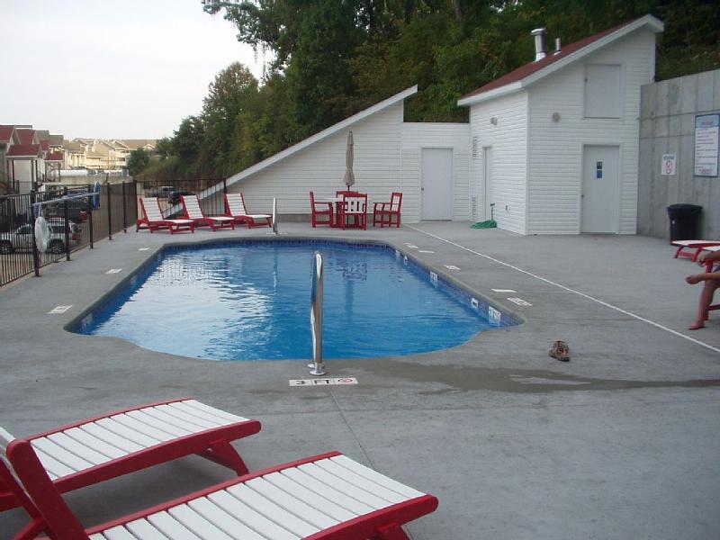 Heated pool in season. Restroom on the deck