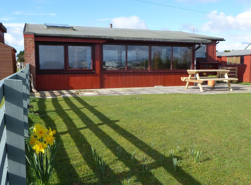 Rear sunroom has a perfect view across the Solway Firth and onwards to the Lake District.