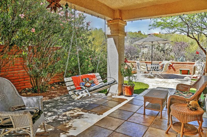 Unwind on the lovely private porch and take in the marvelous surrounding scenery