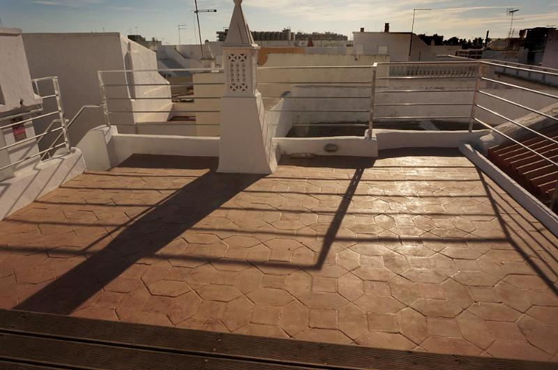 Spacious roof terrace