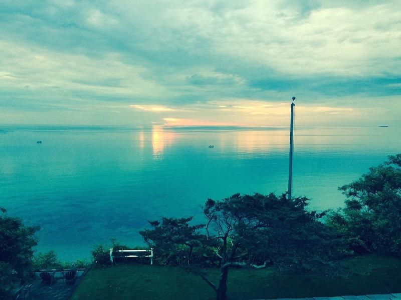 Imagine waking from your bed to this beautiful sunrise across Cape Cod bay.