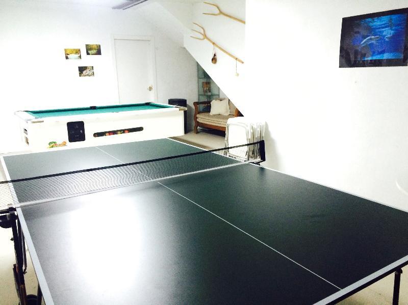 Zona de ping-pong y billar
