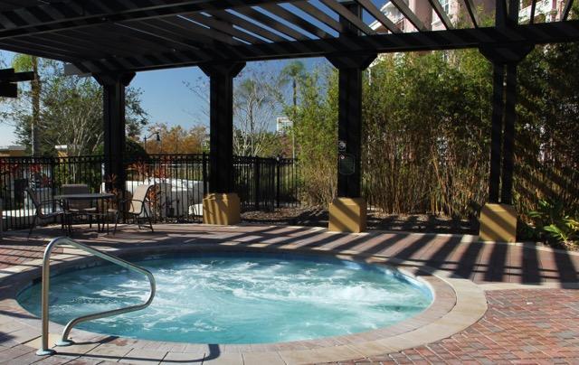 Large resort hot tub