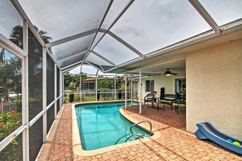 Cette location de vacances glorieuse Cape Coral maison est parfaite pour votre Floride échapper!