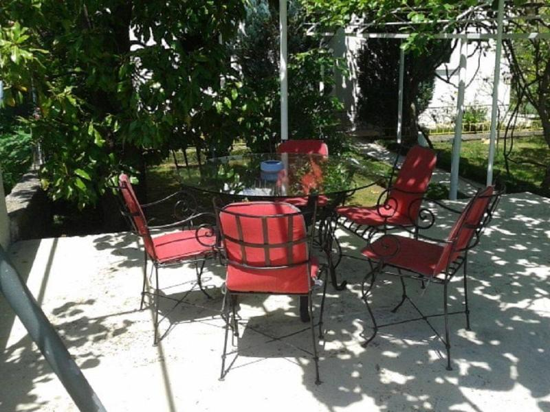 Outdoor furniture in the yard