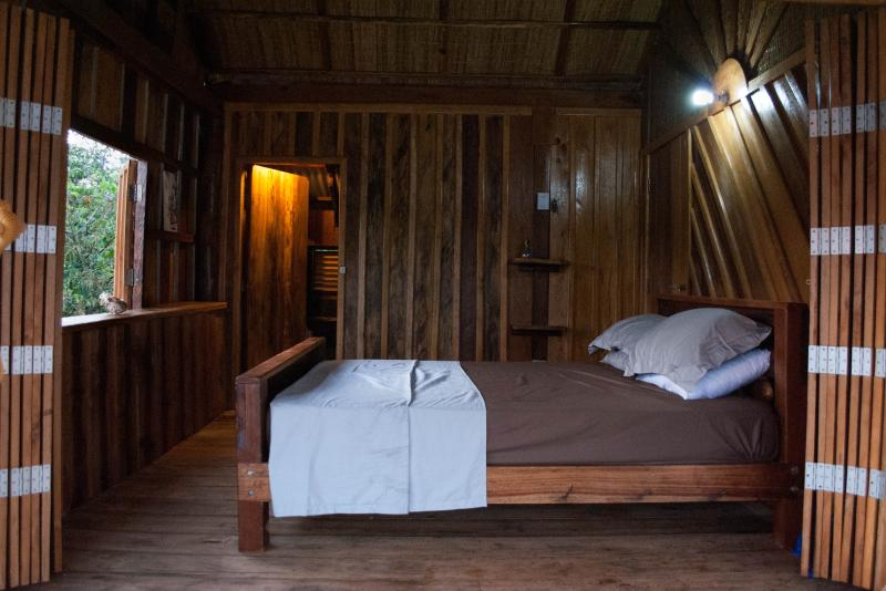 Beach View room is hand crafted for a cosy log cabin feel