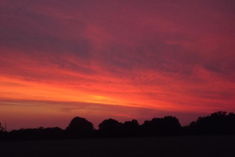 A Suffolk sunset.