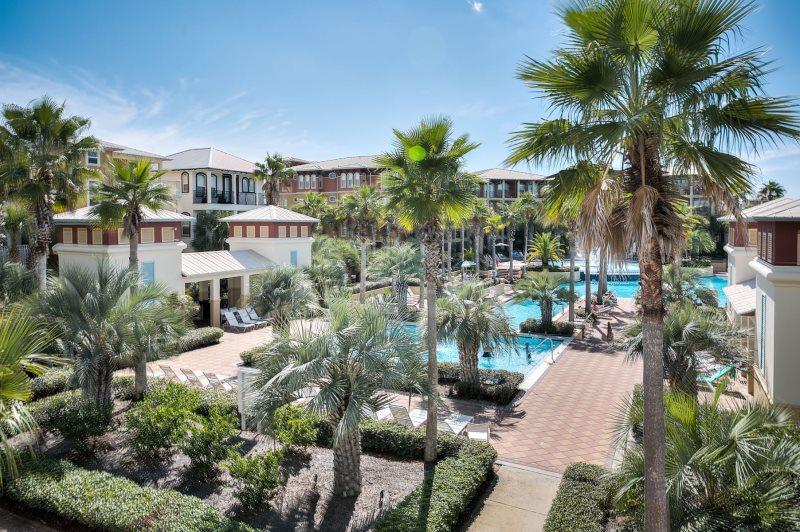 Beautiful 12,000 sq ft pool just steps from this vacation property.