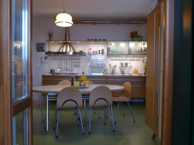 The kitchen downstairs