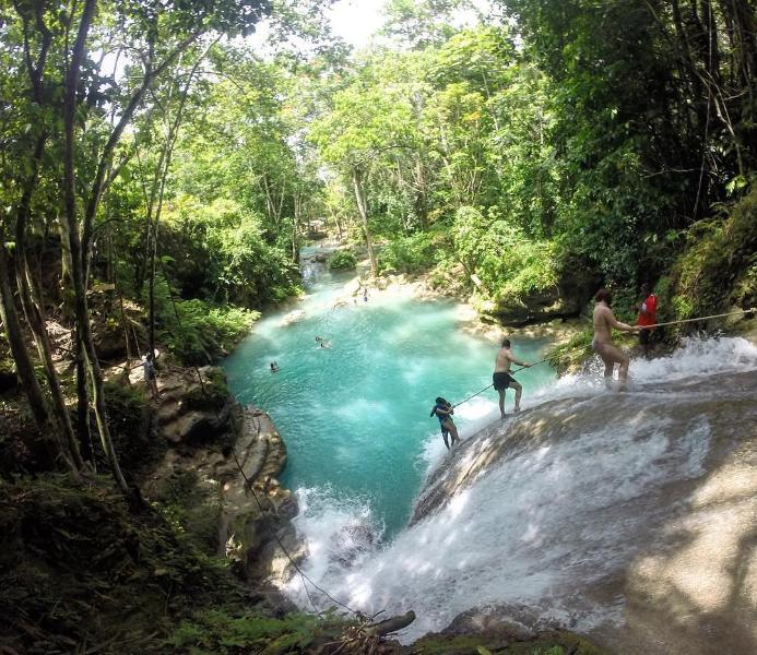 Dunns River falls the most famous attraction on the islands north coast  20 mins from the Orchids