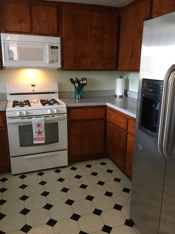 Fully equipped kitchen including automatic dish washer