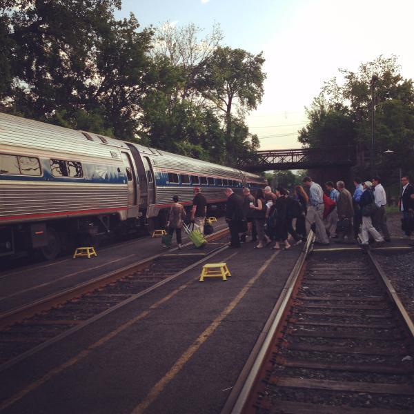 take the train to Hudson