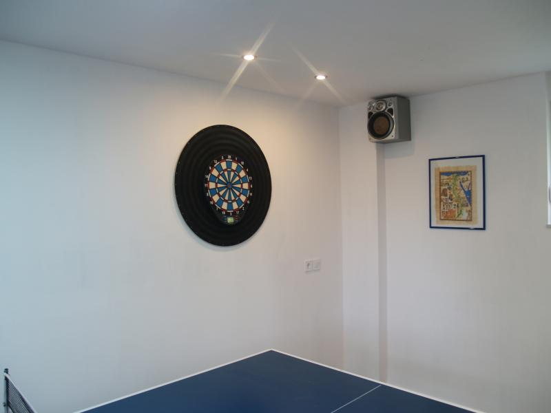 Room for entertainment  with dart board