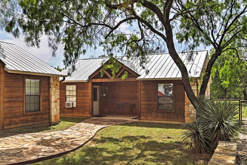 You'll never have a dull moment if you stay at this Lakehills vacation rental cabin!