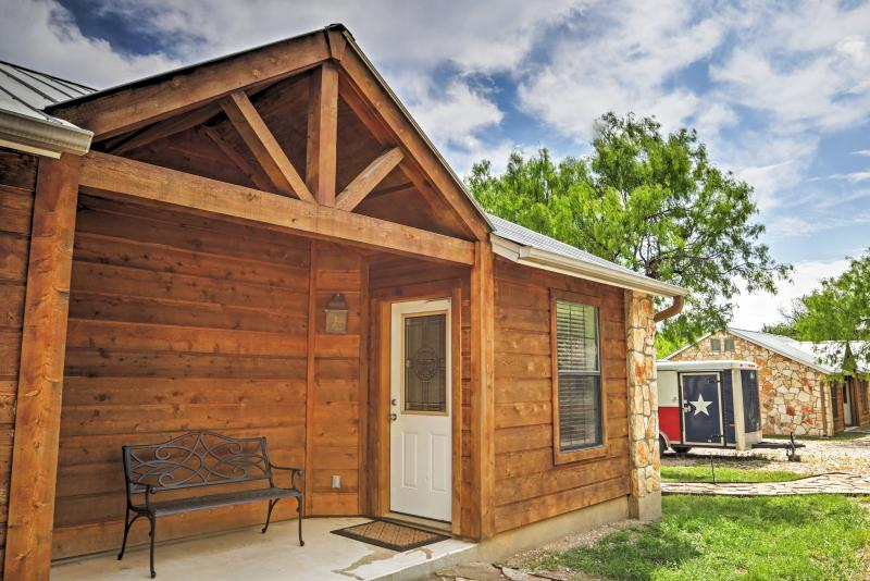 Book this Lakehills vacation rental cabin for your Hill Country getaway.