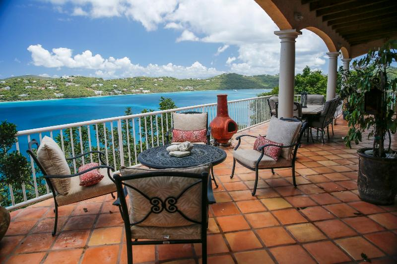 Porch view of Magen's Bay