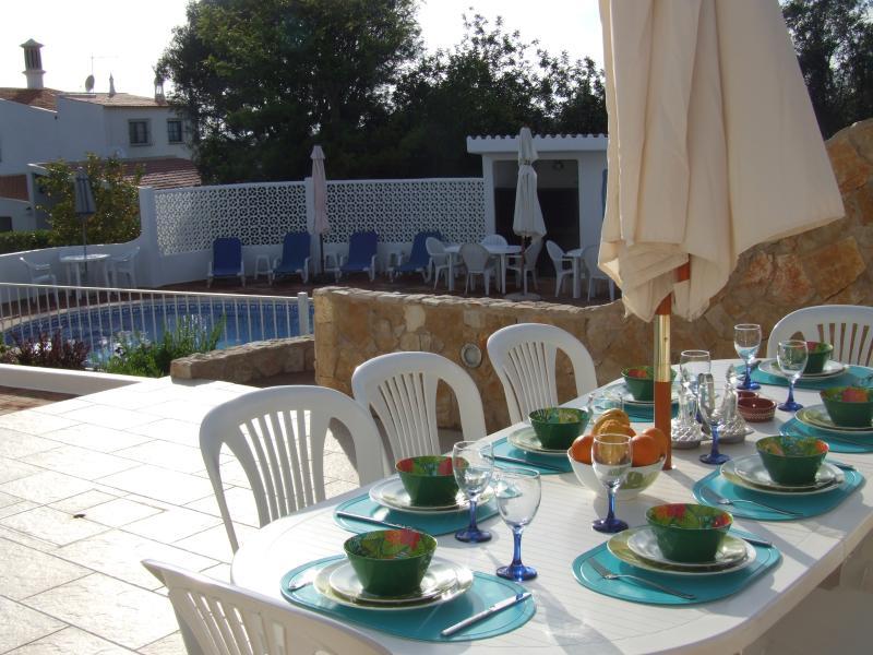 Breakfast Terrace overlooking the pool