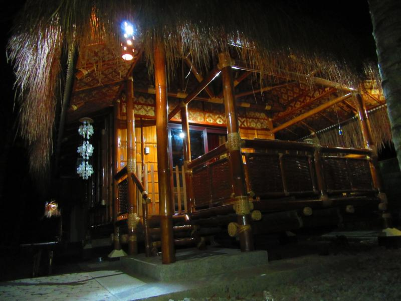 Other structures in the compound: Bamboo Uno by night