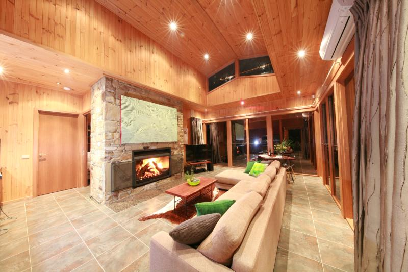 Relax in front of the inviting fire place