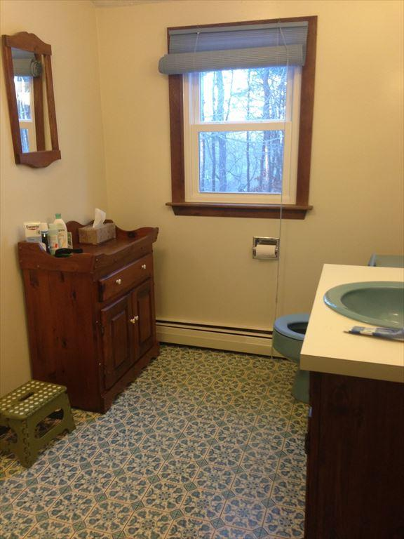 One of Two Full Restrooms