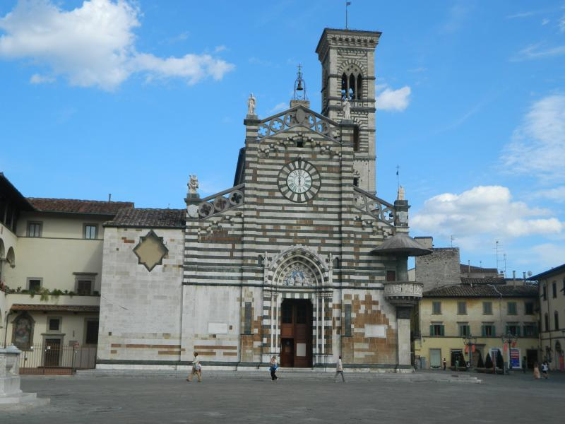 The wonderful Duomo of Prato with the pulpit of Donatello and Michelozzo.