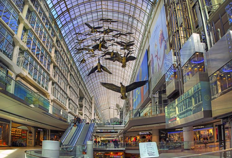 The Toronto Eaton Centre is 700 meters away, 12 minutes walk along Shuter St.