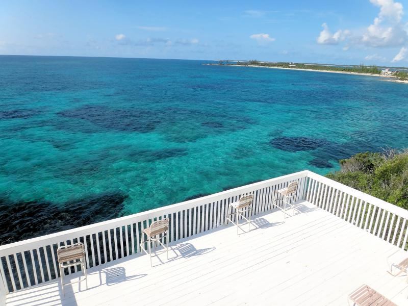 Gorgeous view of turquoise water from deck