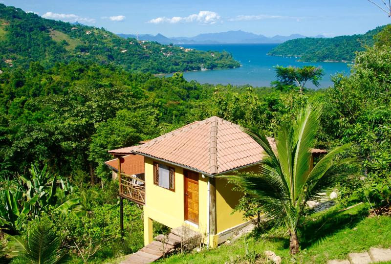 Chalé Amarelo- Yellow cottage at Casa Tambor.  We have 3 beautiful cottages for renting.
