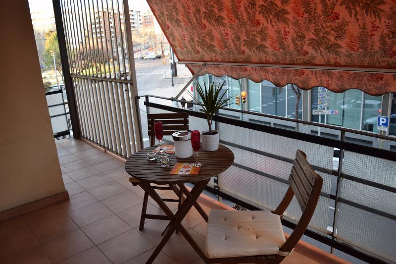 Balcony overlooking the Plaza Imperial Tarraco