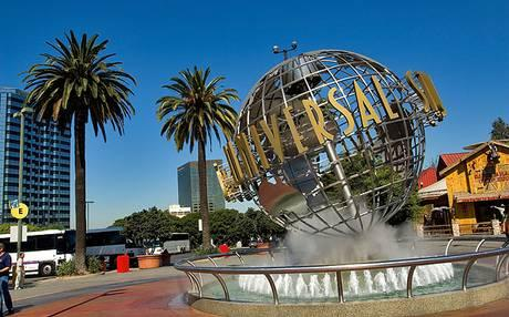 short drive to Universal Studios