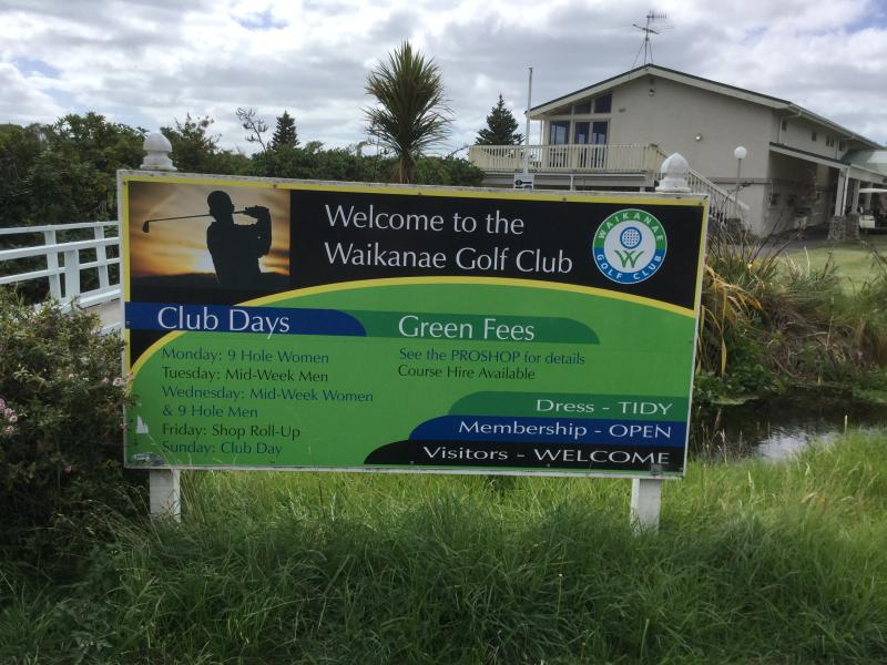Waikanae 18 hole golf course