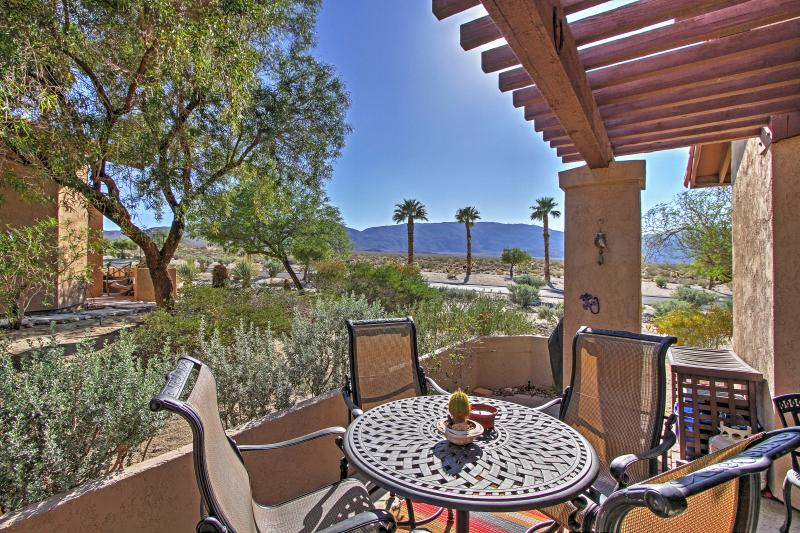 Escape the ordinary at this Borrego Springs vacation rental condo!