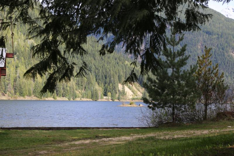 View from lower end of property