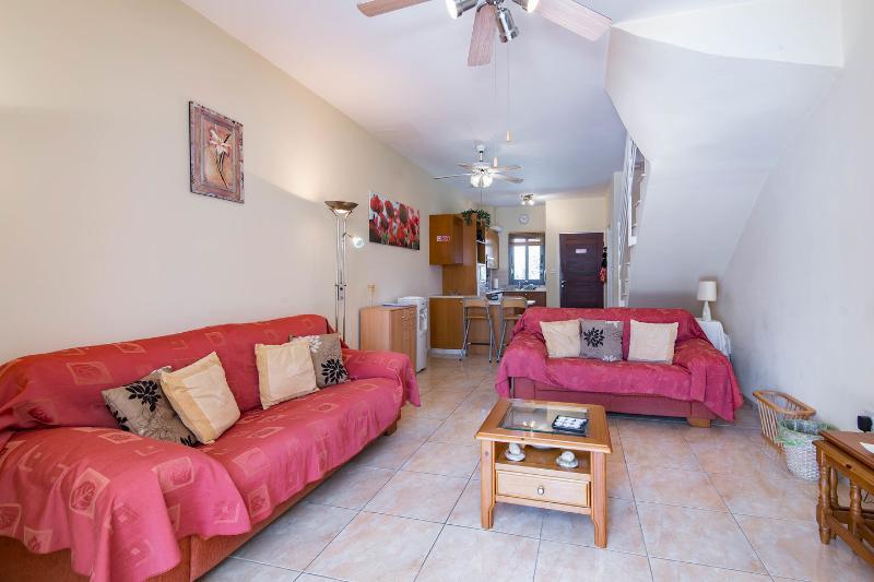 Living Room:. Mediterranean inspired living space