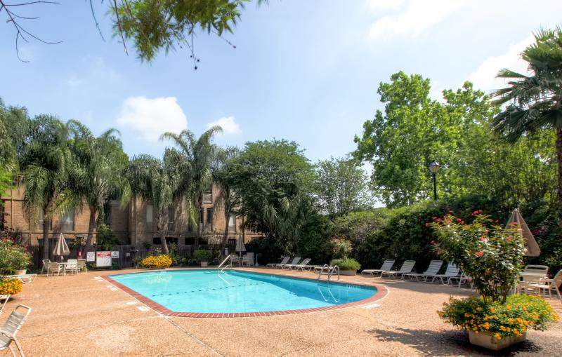 You'll love the gorgeous community pool at this Houston vacation rental condo!