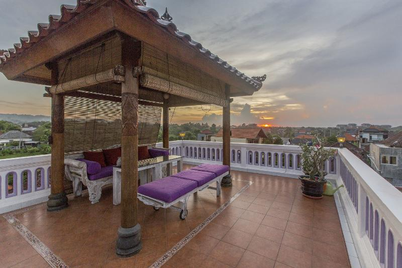 Rooftop terrace at sunset. Full 360 degrees views.